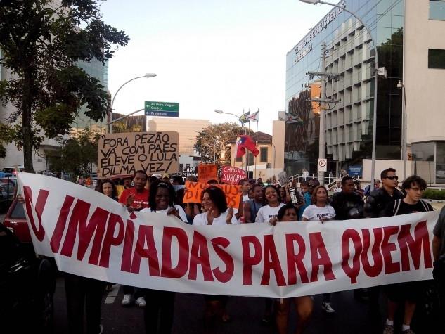 Protesto da campanha